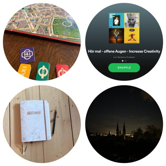 Scotland Yard spielen, eine Playlist zum Monatsthema erstellen, alle Pläne ins Bullet Journal schreiben und mit dem Buch im Bett verschwinden - 12 von 12 Juli 2019 - Increase Creativity