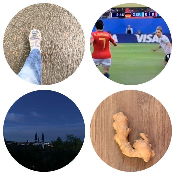 Mittags raus um die Kinder abzuholen, Frauen Fussball WM schauen und zum Glück noch genug Ingwer für die nächsten Tage haben, Gute Nacht  - 12 von 12 Juni 2019 - Increase Creativity