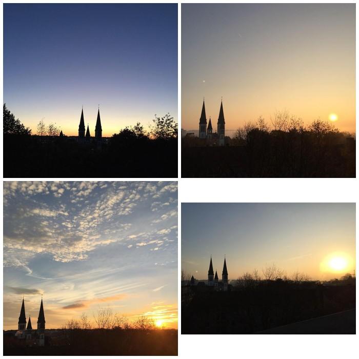 Sonnenaufgänge aus meinem Fenster mit Blick auf die Dreifaltigkeitskirche in Wiesbaden von 2010 bis heute - Increase Creativity