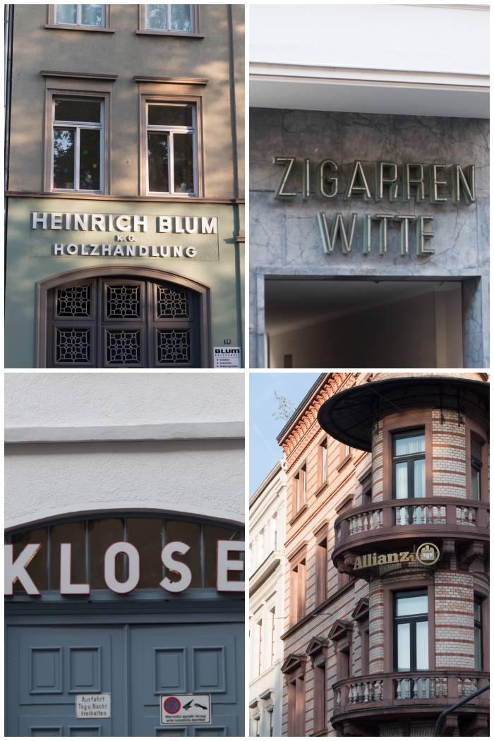 Alte Firmen-Schilder u.a. aus der Moritz - und Rheinstrasse in Wiesbaden - fotografiert beim Sign/Typographie Walk - Increase Creativity