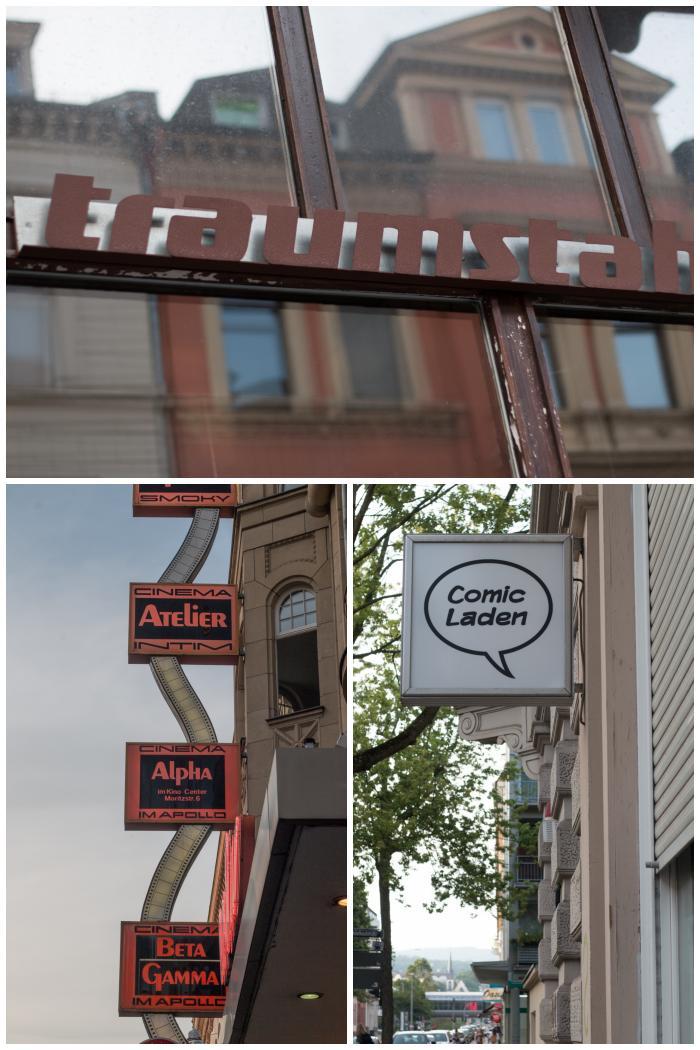Neu und alte Firmen-Schilder aus der Oranien - und Moritzstrasse in Wiesbaden - fotografiert beim Sign/Typographie Walk - Increase Creativity