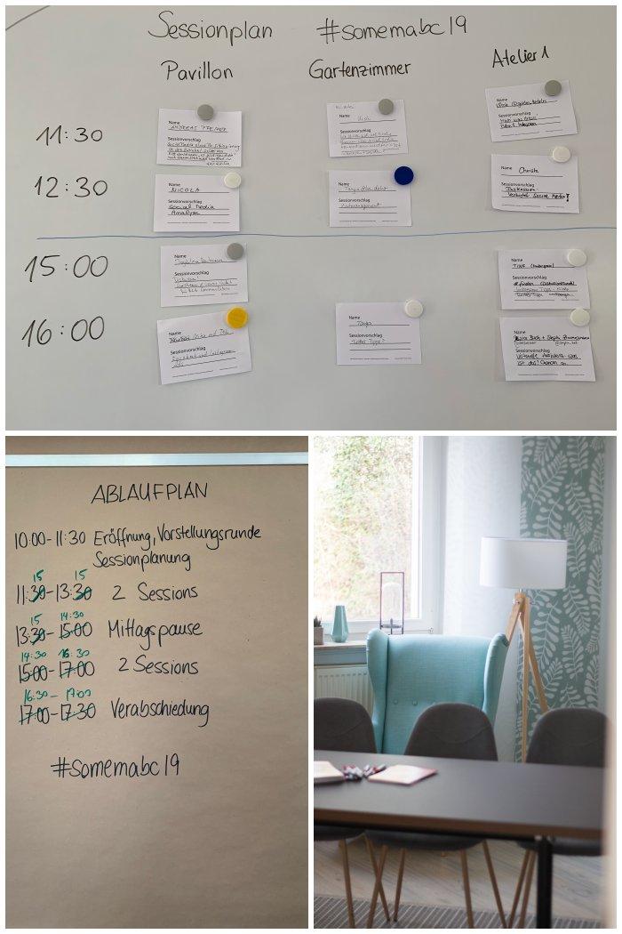 Session- und Zeitplan beim 2. SoMeMaBC - Increase Creativity