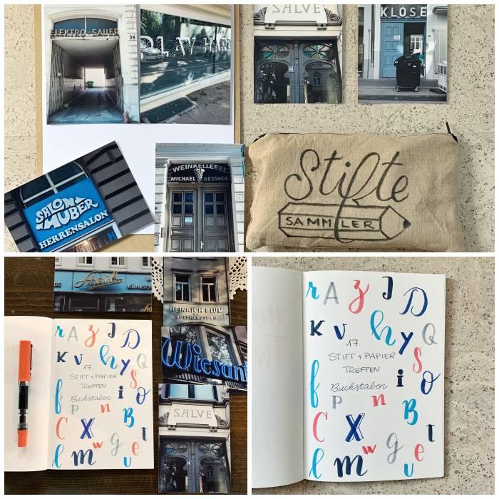 Fotos als Inspiration zum Thema Buchstaben beim 17. Stift + Papier Treffen in Wiesbaden - Increase Creativity