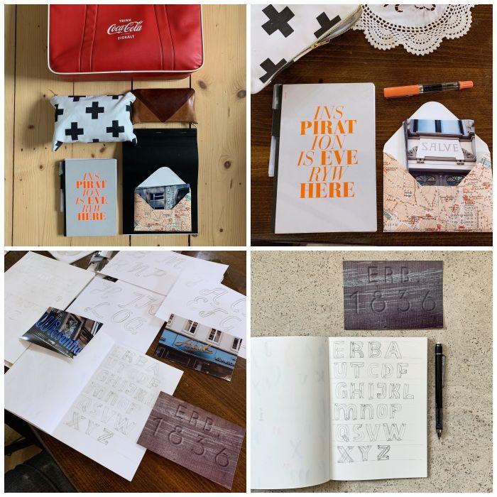 Die Ergebnisse zum Thema Buchstaben beim 17. Stift + Papier Treffen in Wiesbaden - Increase Creativity