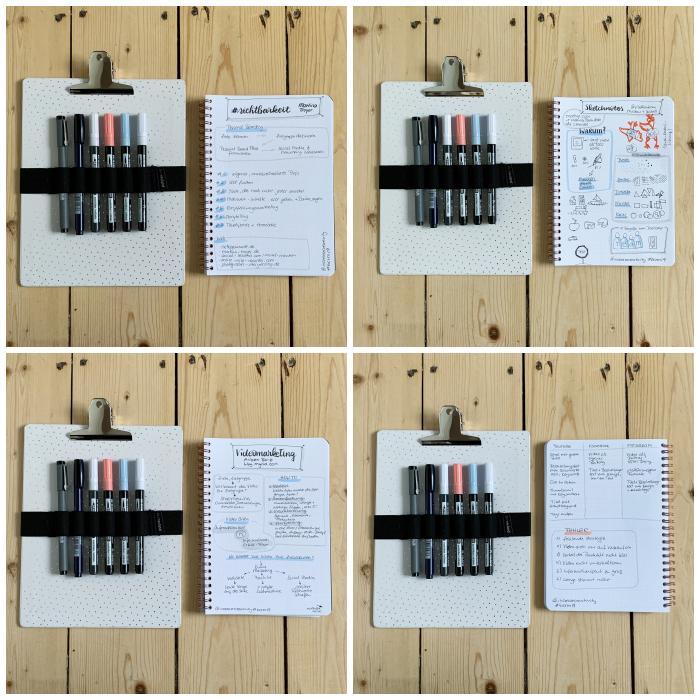 Meine Sketchnotes vom 11. BarCamp RheinMain aus den Sessions über #sichtbarkeit, Videomarketing und Sketchnotes - BarCamp RheinMain - Increase Creativity