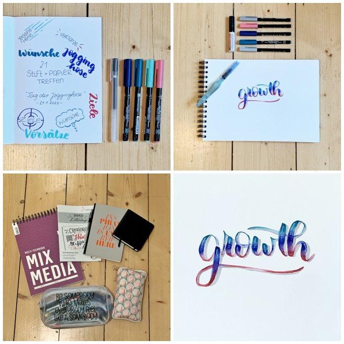 21. Stift + Papier Treffen in Wiesbaden, mein Material und meine Ergebnisse - Increase Creativity